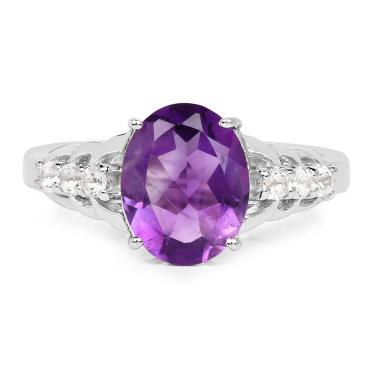 Dazzling Night 2.14ct Amethyst Ring