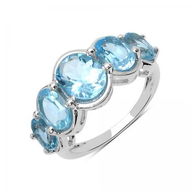 Captivating Skylight 5.42ctw Topaz Ring