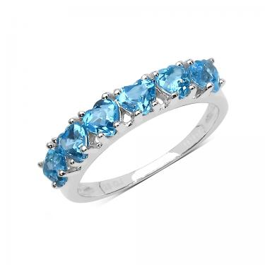 Stunning Ocean Heart 1.68ct Topaz Ring