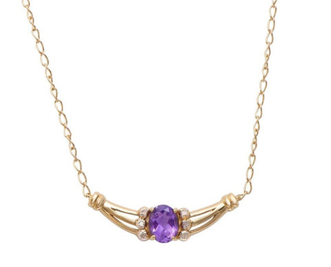 Gorgeous Sky 18k 4.33ctw Amethyst Necklace