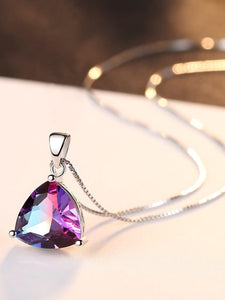 Beautiful Trillion Cut Mystic Topaz Pendant