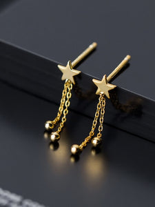 Small Dazzling Star Drop Earrings
