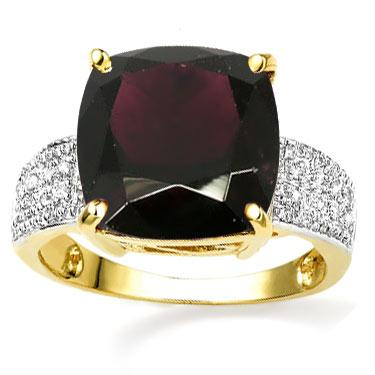 Winery 14k Diamond 6.0ct Garnet Ring