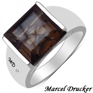 Marcel Drucker Diamond 5.99ct Smoky Topaz Designer Ring