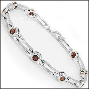 Red Moon 6.0ctw Garnet Bracelet
