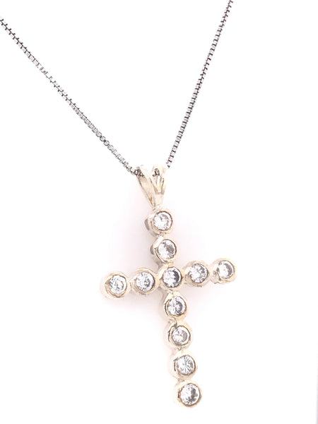 Shimmering Cross Pendant Necklace