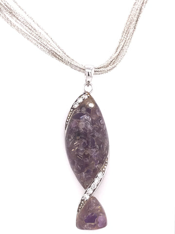 Crushed Fish Amethyst Set