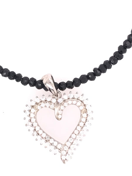 Black Crystal Heart Pendant