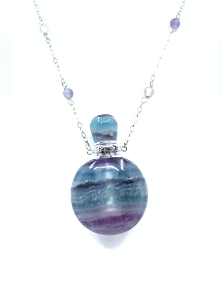 Rainbow Fluorite Essential Oil Necklace