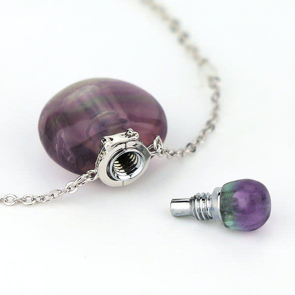 Rainbow Fluorite Mini Essential Oil Necklace