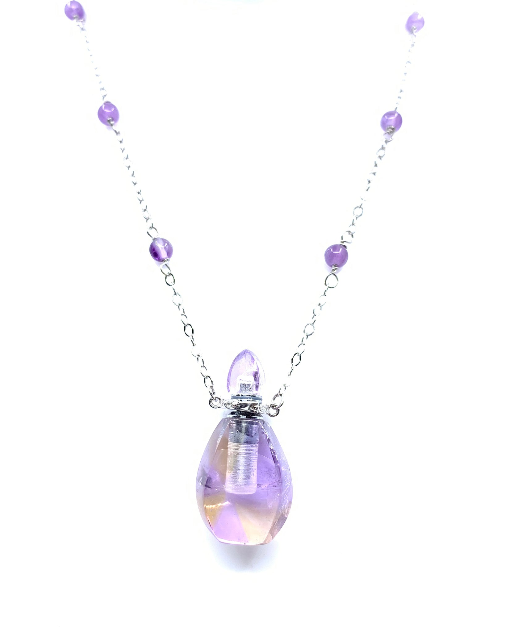 Amethyst Luxury Essential Oil Necklace