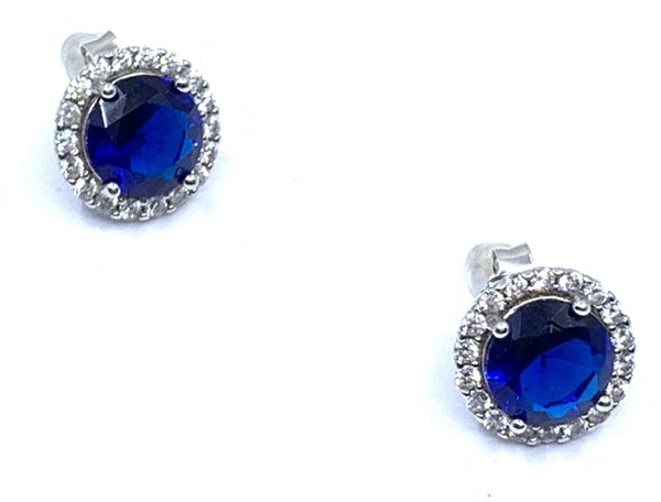 True Blue Halo Earrings