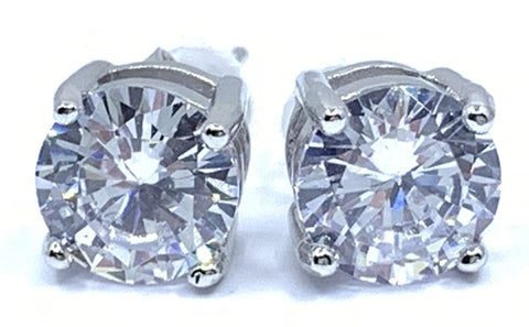 Classic Sparkling Stud Earrings