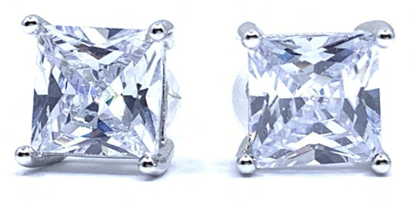 Gorgeous Sparking 2.82ctw Princess Stud Earrings