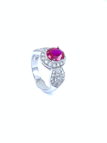 Beautiful Rosy Red Classic Ring