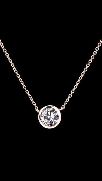 Elegant Style Rose Gold Pendant Necklace