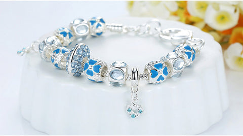 Winter Collection Silver Charm Bracelet