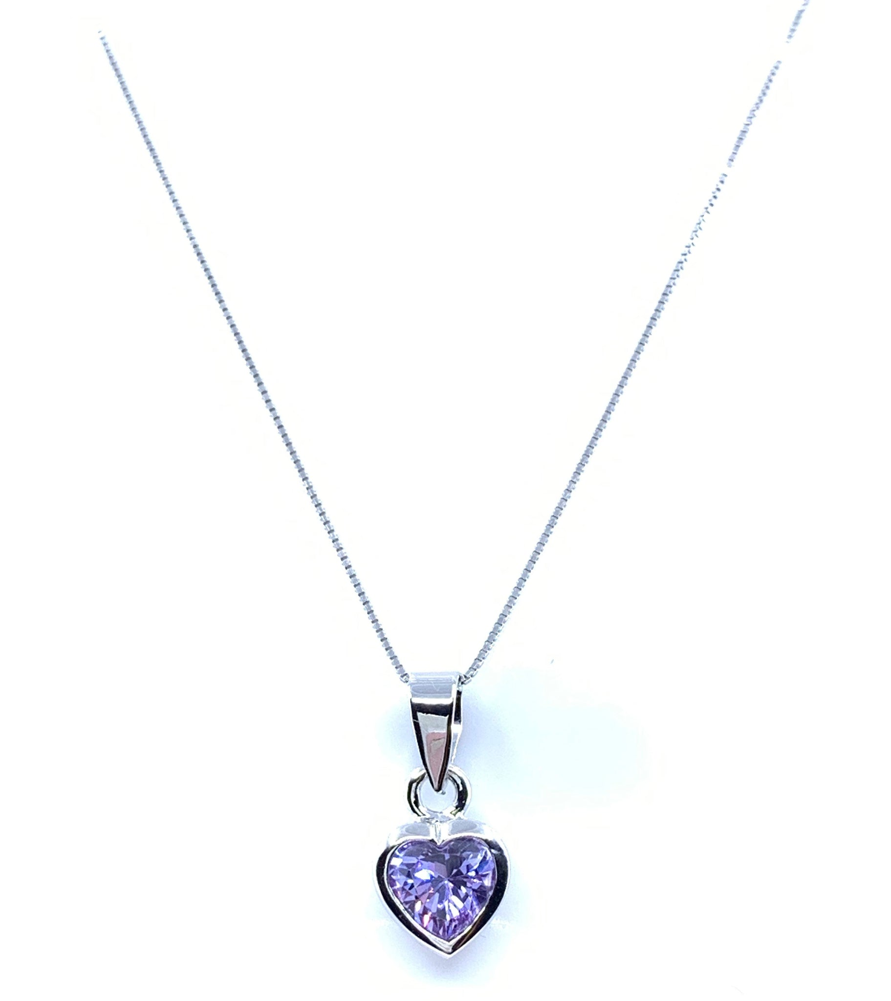 Small Cutie Purple Heart Pendant