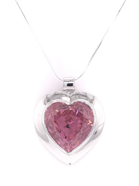 Gorgeous Dazzling Pink Heart Pendant