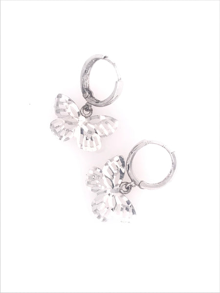 Beautiful Butterfly Hoops Earrings