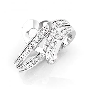 Beautiful Heart 0.030ctw Diamond Ring