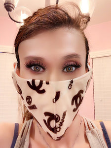 Fashion Forward Velvet Stylish Stop Spread Face Mask
