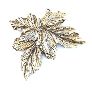 Golden Charm Plated Leaf Pendant