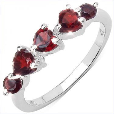 Marvelous Raspberry 1.25ctw Garnet Ring