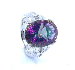 Astonishing 8.4ct Mystic Quartz Ring