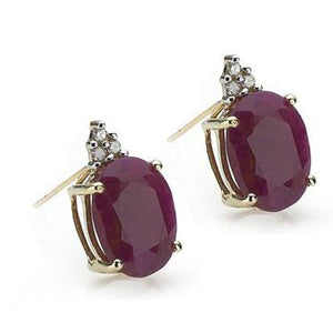 Twilight Night 14k Diamond & 2.20ctw Ruby Earrings
