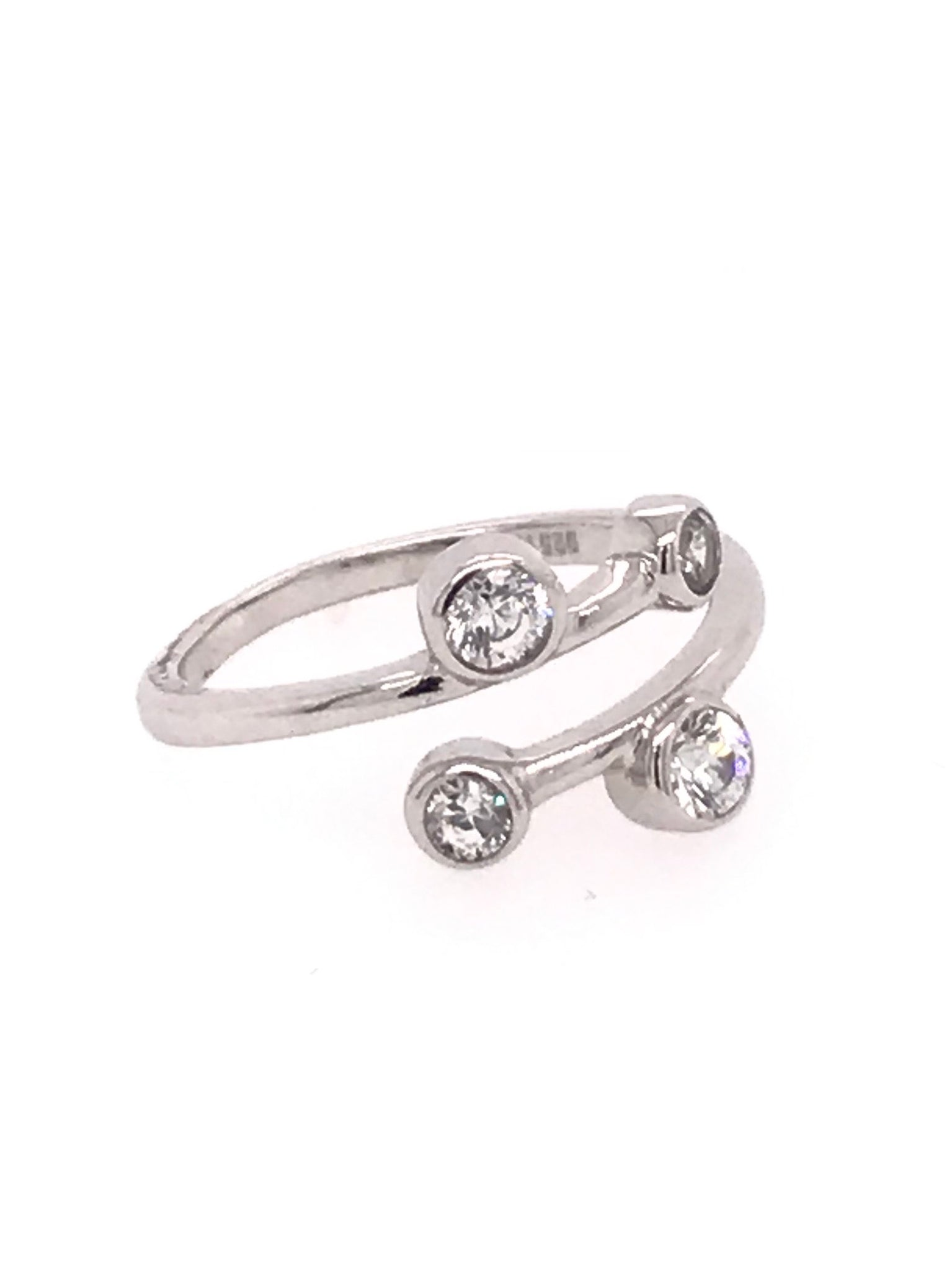 Four Stone Adjustable Toe Ring