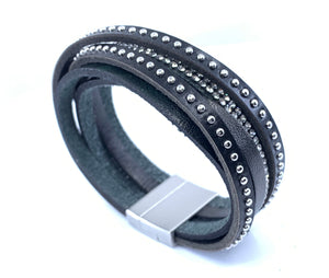 Multi Layers Genuine Leather Wrist Wrap Bracelet