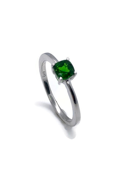 Radiant Cubic Zirconia Ring In Sterling Silver
