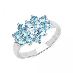 Exquisite 1.30ctw Sky Blue Topaz Ring
