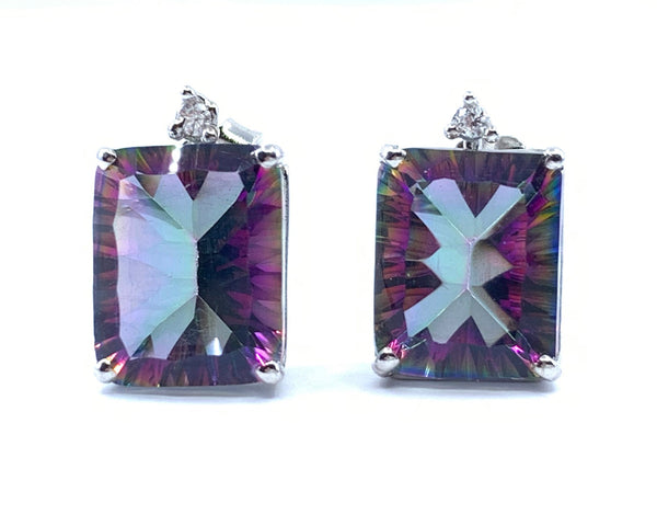 Magnificent 5.7ct Mystic Quartz Earrings