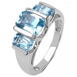 Cloudy Sky 2.96ctw Topaz Ring