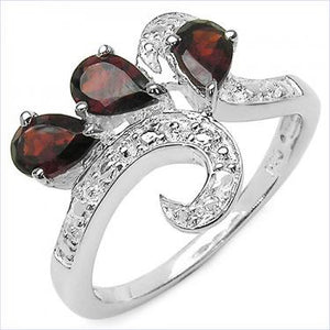 Divine Night 1.35ctw Garnet Ring