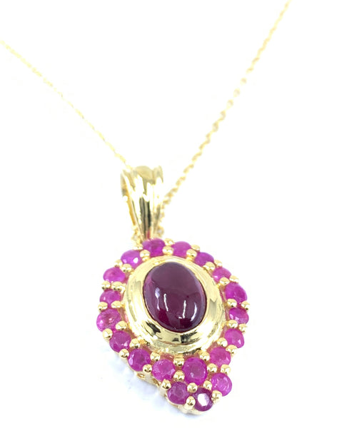 Beautiful 14k 2.84ctw Ruby Pendant