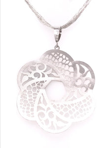 Italian Flower Filigree Pendant