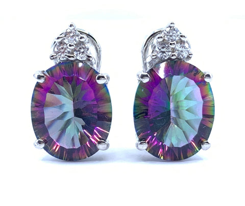 Exquisite 6.5ct Mystic Quartz Earrings