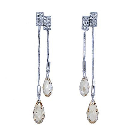 Swarovski Yellow Champagne Teardrop Earrings