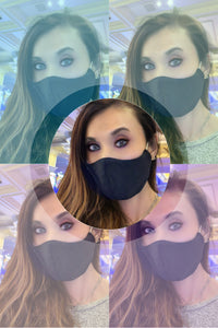 Stop The Spread Black 5-PACK Face Masks