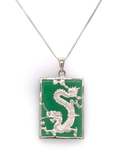 Green Jade Dragon Pendant