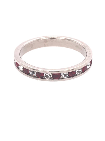 Red & White Eternity Band