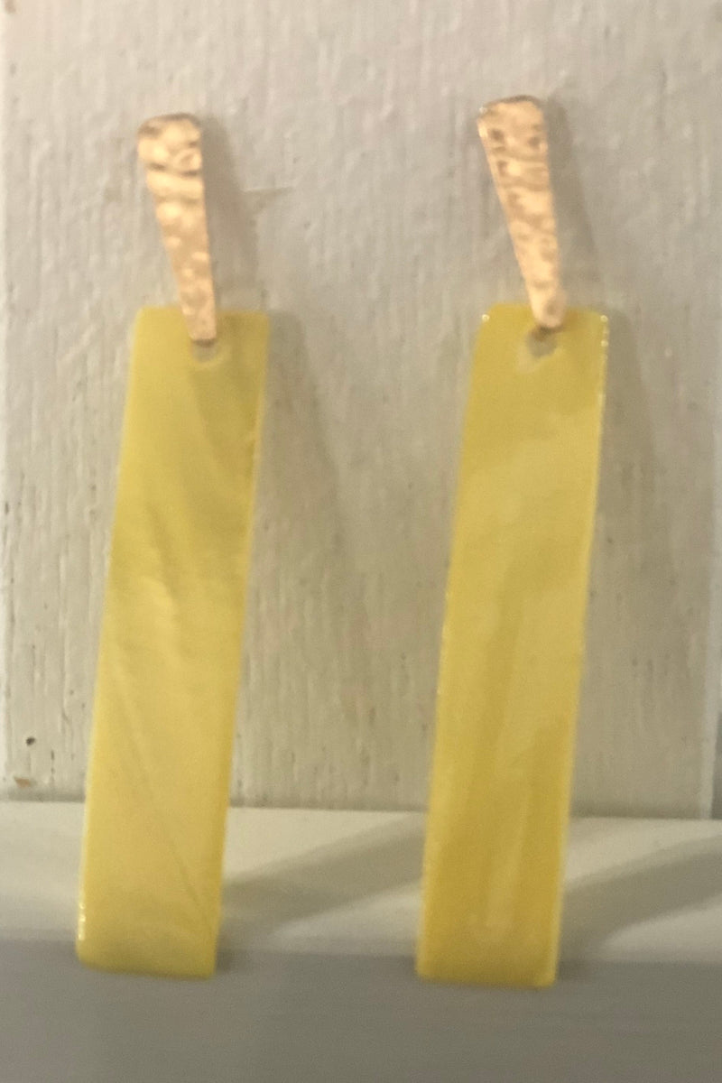 Yellow Shell Earrings
