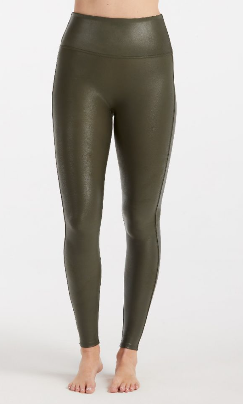 Spanx Faux Leather -Olive