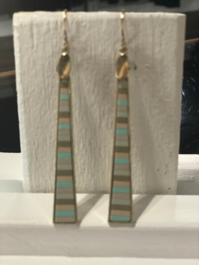Mint Taupe dangle Earrings