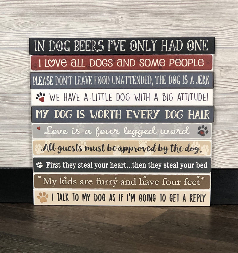 Pet Long Block Signs