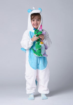 Long Sleeve Blue Unicorn Pajama