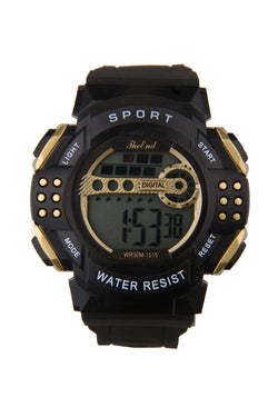 Men's Black Sports Watch